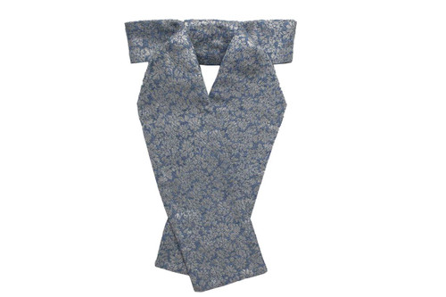 Stock Tie Brocade Blue Daisy