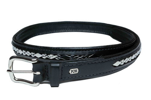 "Belt Full 1"" Stainless Steel Diamond Design"