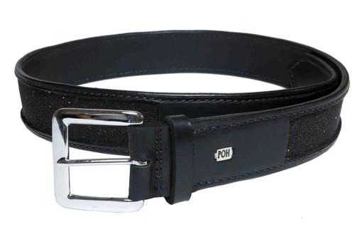 """Belt Full 1 1/2"""" Swarovski Black Design"""