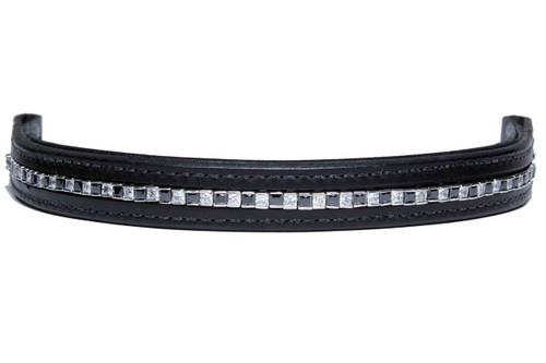 Browband Squares Black Clear Design