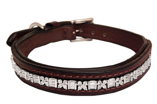 Dog Collar Large Aztec Clear Design