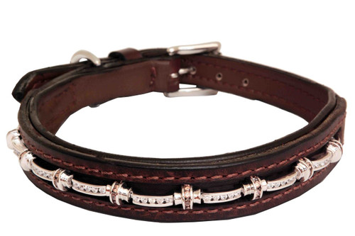 Dog Collar Medium Cassie Chestnut Design