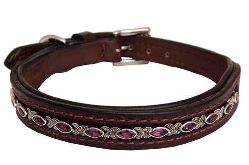 Dog Collar Medium Hampton Amethyst Design