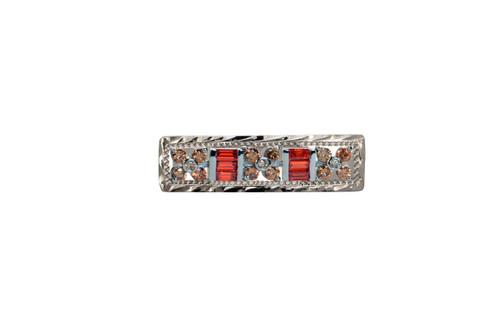 Stock Pin Aztec Champagne Dark Orange Bar Design