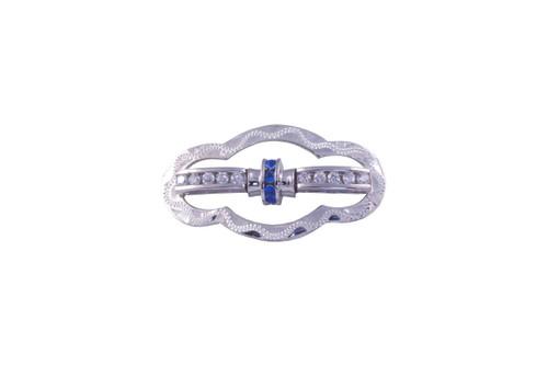Stock Pin Cassie Sapphire Medium Scallop Design