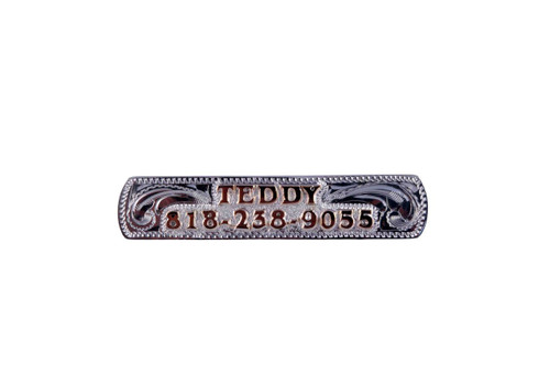Nameplate Raised Letters Sterling Silver Overlay Background Jewelers Brass Letters/Numbers 2 1/2""