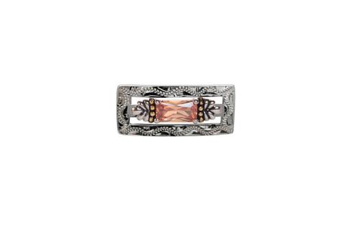 Stock Pin Treasure Champagne Rectangle Design