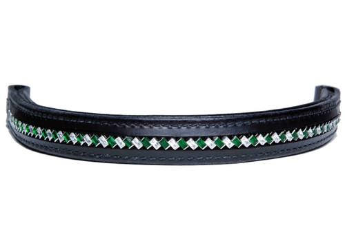 Browband Diagonal Emerald Clear Design