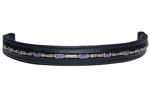 Browband Cable Amethyst Design