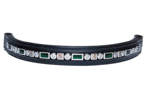 Browband Ari Emerald Champagne Clear Design