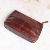 Leather Wash Bag, Distressed Brown