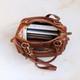 Hampton Leather  Zip Pocket Handbag, Tan