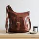 Keri Leather Pocket Crossbody Bag, Tan