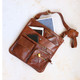 Amy Leather Crossbody Pocket Bag, Tan