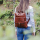 Bobbi Leather Backpack, Tan