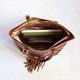 Harlow Leather Shoulder Bag Tote, Tan