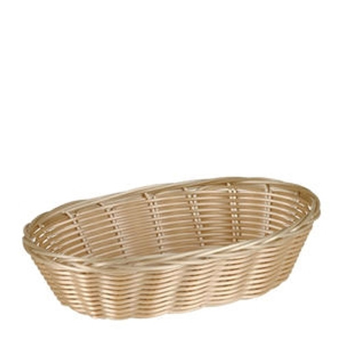 "Basket Oval Natural 9 1/2"" x 6"" x 2 1/4"""