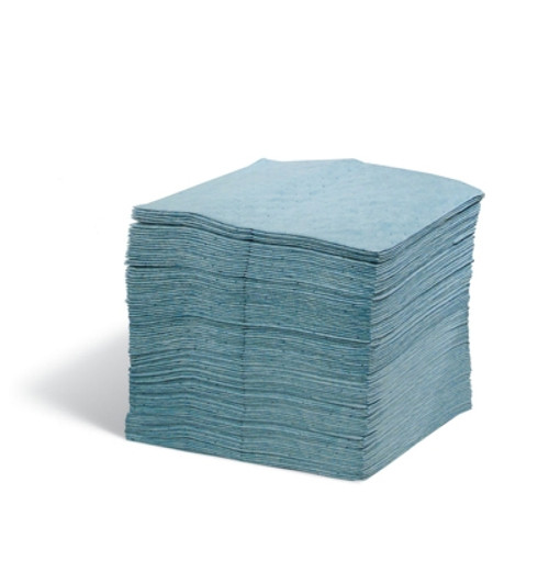 Protector Oil Absorbent Blue Pad, Heavy Weight, 100ct, Laminated