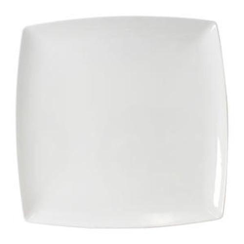 """Classic White Plate Square 10"""""""