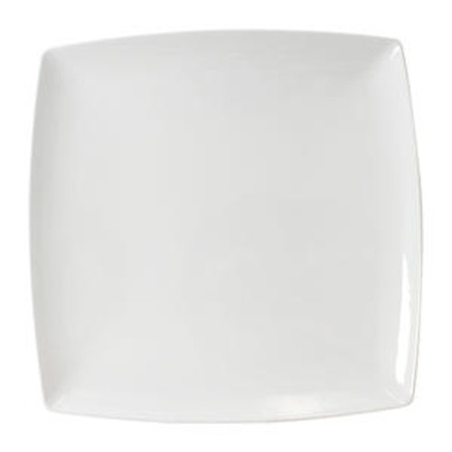 """Classic White Plate Square 12"""""""