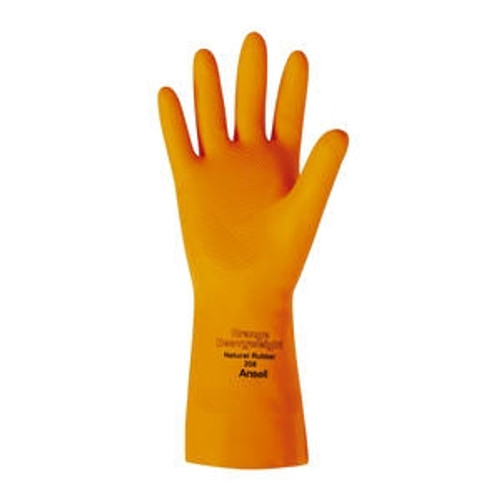 Latex Glove Orange Small