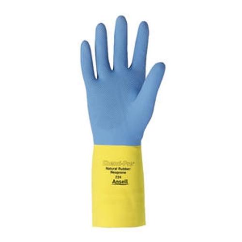 Neoprene Glove Latex Blue/Yellow Large
