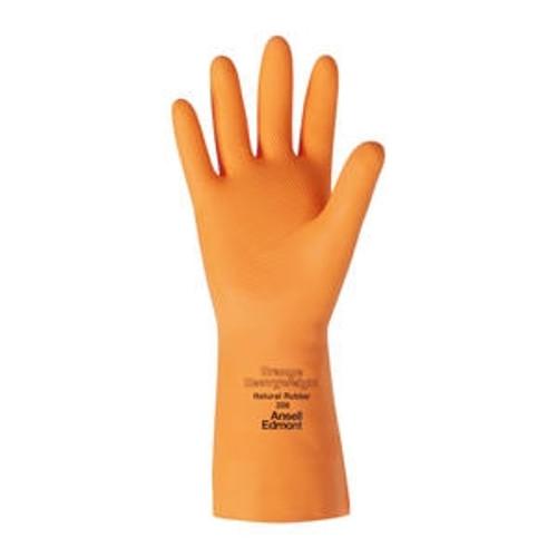 Latex Glove Orange Medium