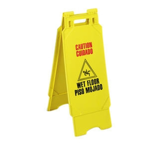 "Floor Sign ""Caution"" Yellow"