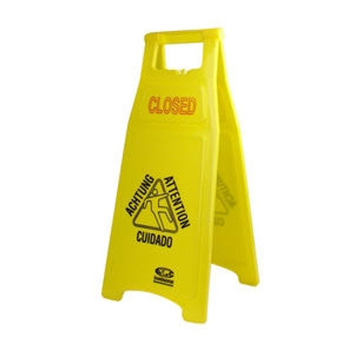 """""""Closed"""" Sign Yellow"""