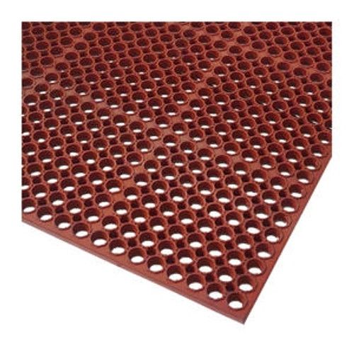 Anti-Fatigue Mat Economy Red 3' x 5' 1/2""