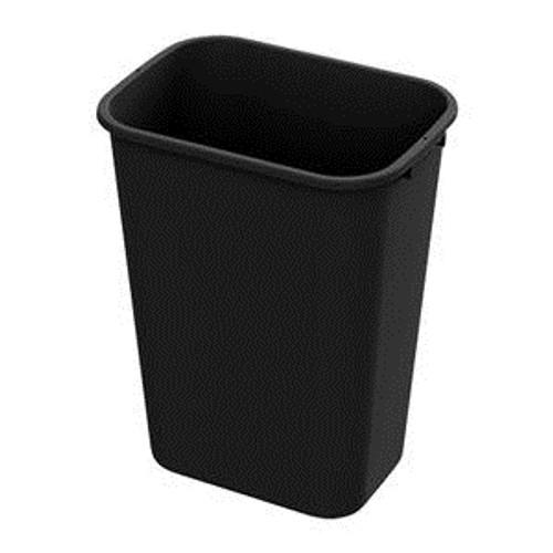 Value Plus Wastebasket Black 41 qt