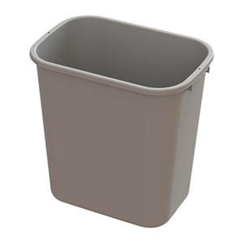 Value Plus Wastebasket Beige 28 qt