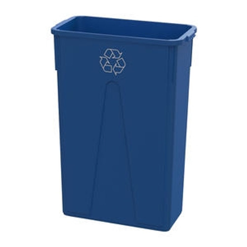 Value Plus Slim Container Recycle Blue 23 gal