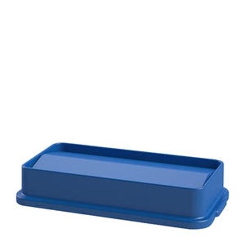 Value Plus Slim Swing Lid Blue 23 gal
