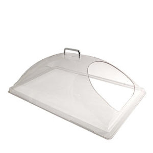 """Camwear Display Cover Dome with 1 End Cutout Clear 12"""" x 20"""""""