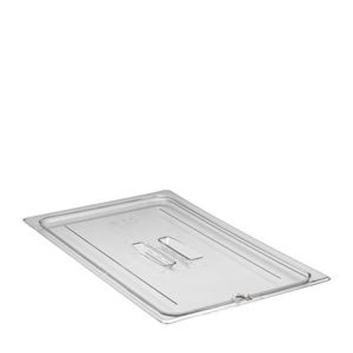 Camwear Food Pan Cover Full Size Notched with Handle Clear