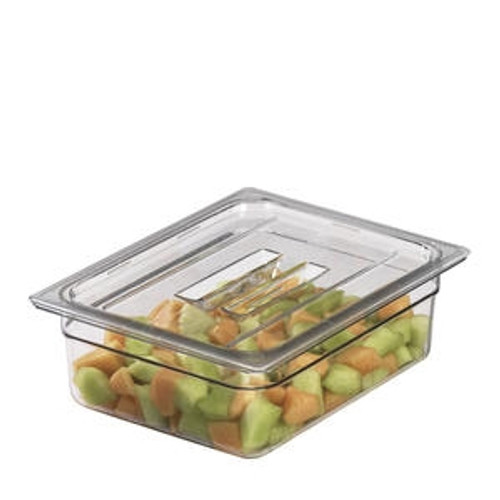 Camwear Food Pan Cover Fourth Size with Handle Clear