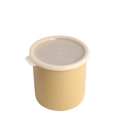 Crock with Lid Beige 1.5 qt