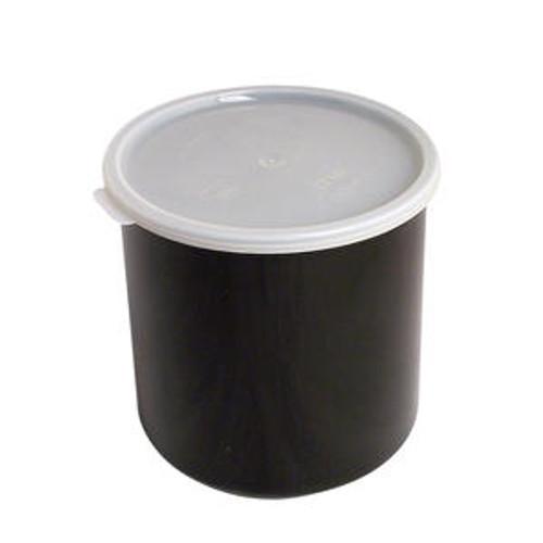 Crock with Lid Black 2.7 qt