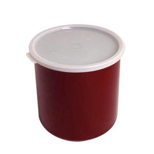 Crock with Lid Reddish Brown 2.7 qt