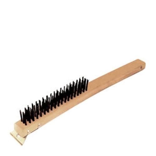 """Wire Brush with Scraper 14"""""""