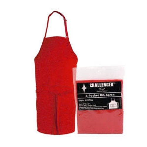 "Challenger 3-Pocket Apron Red 28"" x 30"""