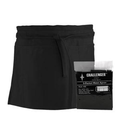 Challenger 3-Pocket Waist Apron Black