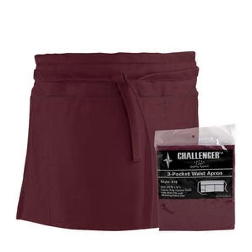 Challenger 3-Pocket Waist Apron Burgundy