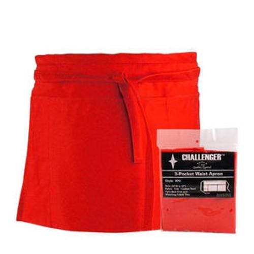 Challenger 3-Pocket Waist Apron Red