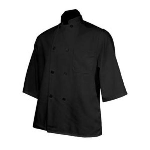 Chef Coat Short Sleeve Black L