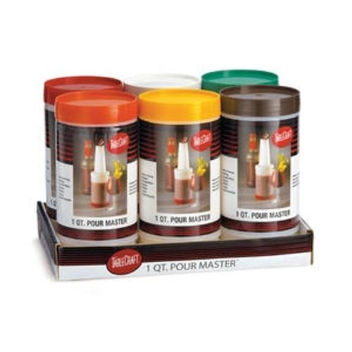 Pourer Set Assorted Cap Colors 1 qt