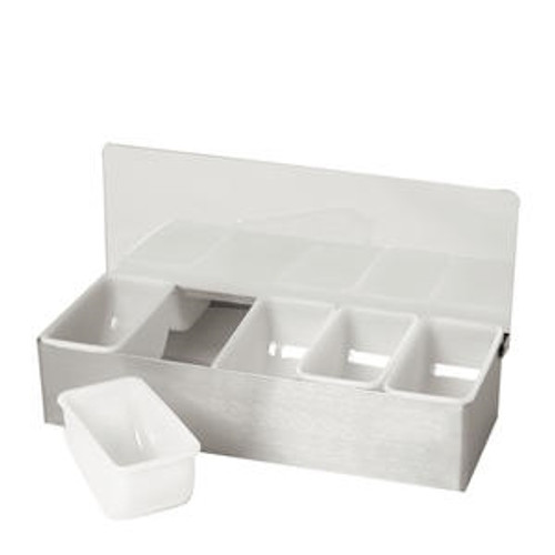 Condiment Dispenser with 6 (1-pt) Inserts