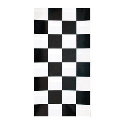 "Tablecover Black Check 40"" x 100'"