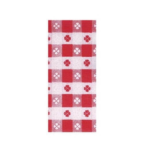 """Tablecover Roll Red Checkered 40"""" x 300'"""